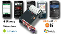 Accept Credit Cards on iPhone, Android,, Blackberry, Windows Mobile, & Palm